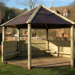 Timber Shelter with seating area