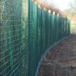 green welded mesh wire fence