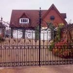 Whichford decorative metal gate on driveway