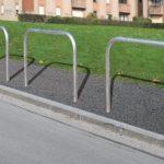 Hoop barrier along tarmac footpath