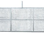 Metal gate for lagoon access, with mesh