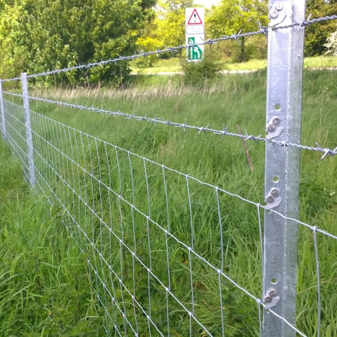 Metal Barbed Wire Clipex Fencing in Field